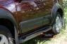 Молдинги на двери широкие Nissan Pathfinder 2011-2013 (R51 рестайлинг)