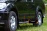Молдинги на двери узкие Nissan Navara 2005-2010
