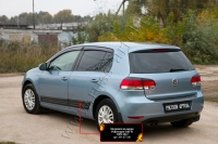 Молдинги на двери Volkswagen Golf VI 2009-2012