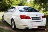 Накладка на задний бампер BMW 5 седан 2014-2016
