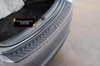 Накладка на задний бампер Hyundai Solaris седан 2017-