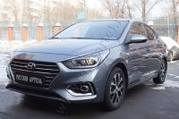 Накладки на внутренние пороги дверей Hyundai Solaris седан 2017-
