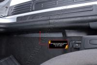 Накладки на ковролин порогов передних дверей Lada (ВАЗ) Largus фургон 2012-