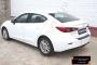 Накладка на задний бампер Mazda 3 седан 2013-2016 (III дорестайлинг)