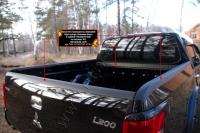 Комплект накладок на передний борт кузова, боковые борта и задний откидной борт со скотчем 3М Mitsubishi L200 2015-