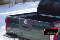 Комплект накладок на боковые борта и задний откидной борт со скотчем 3М Nissan Navara 2011-2015