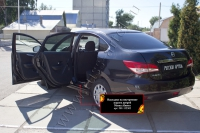 Накладки на внутренние пороги дверей Nissan Almera 2014-