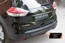 Накладка на задний бампер Nissan X-trail 2015-2016