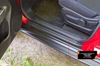 Накладки на внутренние пороги дверей Nissan Juke 2015- (YF15 рестайлинг)
