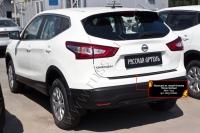 Накладка на задний бампер Nissan Qashqai 2014-2016