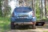 Накладка на задний бампер (Вариант 3) Renault Duster 2015- (I рестайлинг)