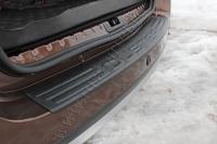 Накладка на задний бампер Вариант 2 Renault Duster 2010-2014 (I поколение)