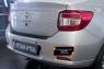 Накладка на задний бампер Renault Logan 2014-2017 (II дорестайлинг)