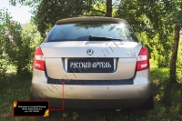 Накладка на задний бампер Skoda Fabia II 2010-2013