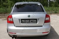 Накладка на задний бампер Skoda Octavia A5  2008-2013