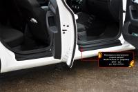 Накладки на внутренние пороги дверей Skoda Octavia A7 2014-2017 (III дорестайлинг)