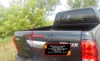 Накладка на задний откидной борт со скотчем 3М Toyota Hilux 2015-
