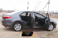 Накладки на внутренние пороги дверей Toyota Corolla (седан) 2012-2015