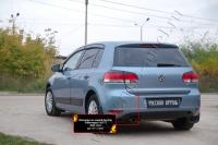 Накладка на задний бампер Volkswagen Golf VI 2009-2012