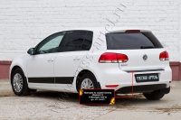 Накладка на задний бампер (Вариант 2) Volkswagen Golf VI 2009-2012