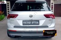 Накладка на задний бампер Volkswagen Tiguan 2017-