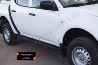 Пороги металлические Mitsubishi L200 2014-2015 (15MY)