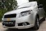 Накладки на передние фары (Реснички) Chevrolet Aveo Хэтчбек 3/5 дв. 2008-2012