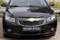 Накладки на передние фары (реснички) Chevrolet Cruze I 2012-2014