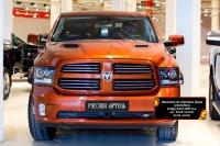 Накладки на передние фары (реснички) Dodge RAM 2009-