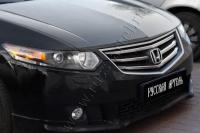 Накладки на передние фары (реснички) Honda Accord VIII 2008-2010