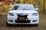 Накладки на передние фары (реснички) Вариант 2 Mazda 3 седан 2006-2009 Рестайлинг I (BK)
