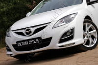 Накладки на передние фары (реснички) Mazda 6 2010-2012