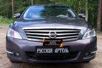 Накладки на передние фары (реснички) Nissan Teana 2011-2014