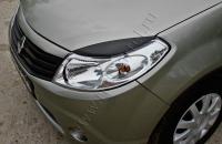 Накладки на передние фары (Реснички) Renault Sandero Stepway 2009-2013