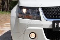 Накладки на передние фары (реснички) Suzuki Grand Vitara 2008-2012