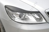 Накладки на передние фары (реснички) Skoda Octavia A5  2008-2013