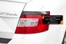 Накладки на задние фонари (реснички) Skoda Octavia A7 2014-2017 (III дорестайлинг)
