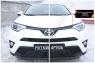 Накладки на передние фары (реснички) Toyota Rav4 2015-