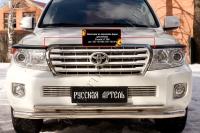 Накладки на передние фары (реснички) Toyota LC 200 2012-2015