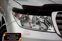 Накладки на передние фары (реснички) Toyota LC 200 2007-2011