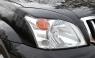 Накладки на передние фары (реснички) Toyota LC Prado 120 2003-2009