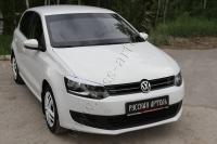 Накладки на передние фары (реснички) Volkswagen Polo V 2009-2016