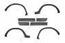 Расширители колесных арок с молдингами на двери Nissan Terrano 2014-2015