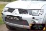 Защитная сетка переднего бампера Mitsubishi Pajero Sport 2008-2013