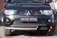 Защитная сетка переднего бампера Mitsubishi L200 2007-2010
