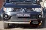Защитная сетка и заглушка решетки переднего бампера Mitsubishi L200 2007-2010