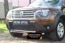 Защитная сетка переднего бампера (без дхо и без обвеса) Renault Duster 2010-2014 (I поколение)