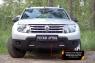 Защитная сетка переднего бампера(с дхо без обвеса) Renault Duster 2010-2014 (I поколение)
