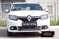 Защитная сетка переднего бампера Renault Sandero 2014-2017 (II дорестайлинг)