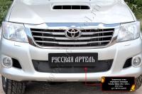 Защитная сетка переднего бампера Toyota Hilux 2013-2015